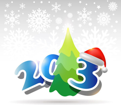 creative13 christmas design element with snow background vector