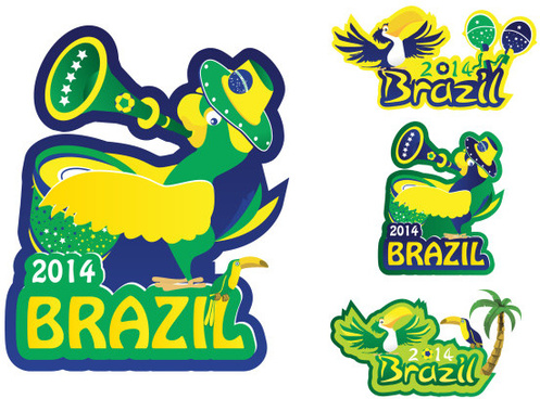 creative14 brazil world cup logos vector