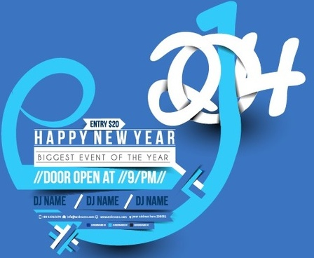 creative14 design with new year background vector