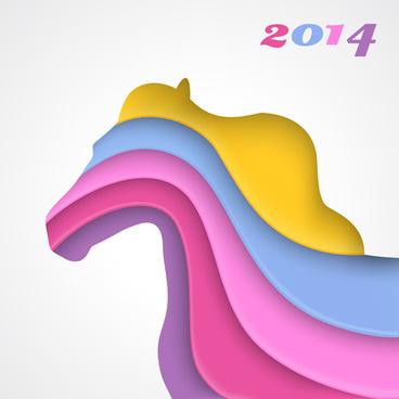 creative14 horses design elements vector