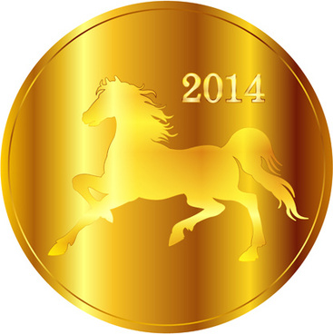 creative14 horses vector graphic