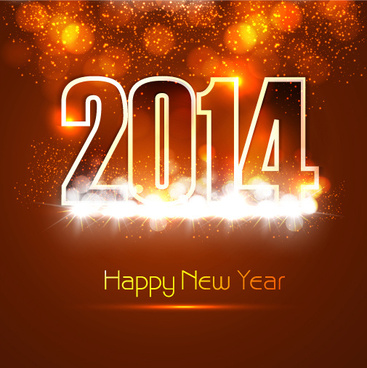 creative14 new year design background set
