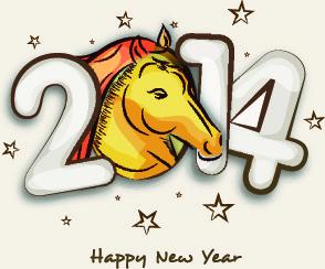creative14 new year design vector graphic