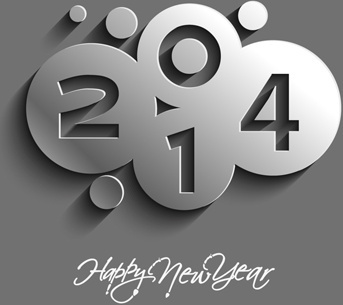 creative14 new year vector background set