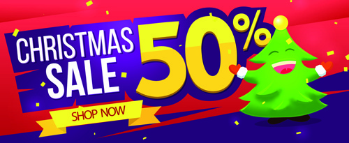creative15 christmas sale banner design