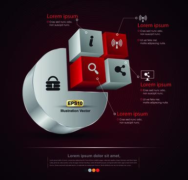 creative 3d infographic design vector