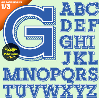creative 3d letters vector set