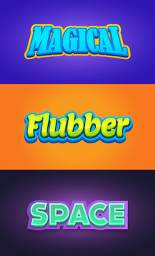creative 3d text design free vector