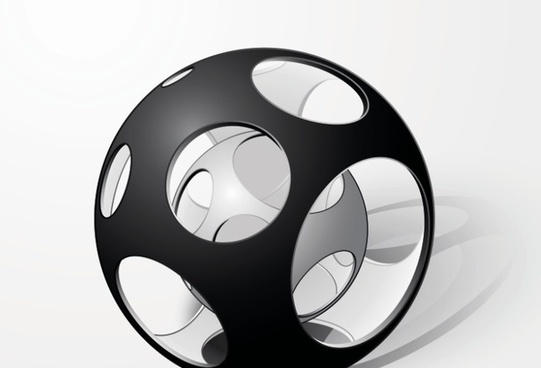 creative abstract sphere design vector