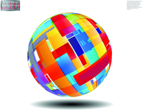 creative abstract sphere design vector