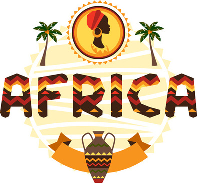 creative african background vector