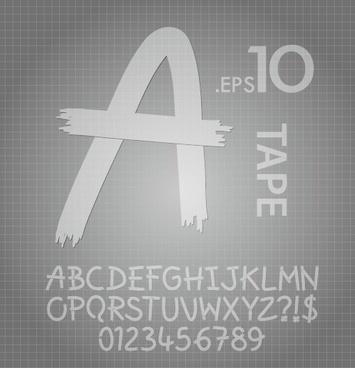 creative alphabet and numeral design vector