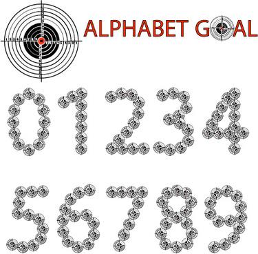 creative alphabet goal design vector