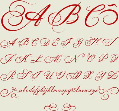 creative alphabets design vector set