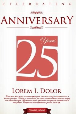 creative anniversary celebrating poster design vector