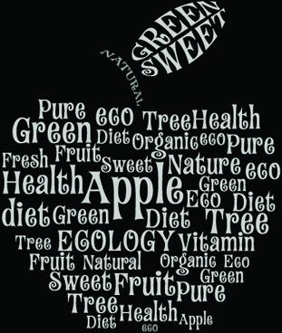 creative apple vector illustration set