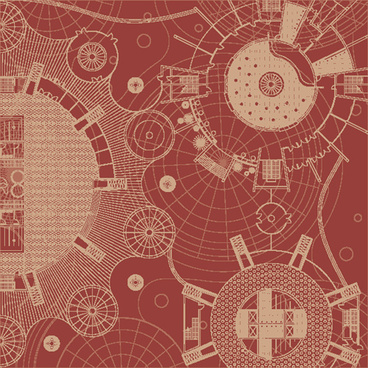 creative architectural blueprint background vector
