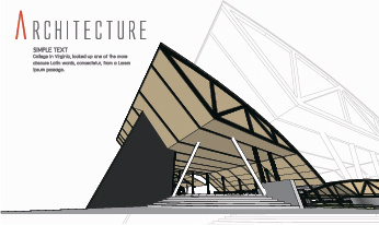 creative architecture concept background vector