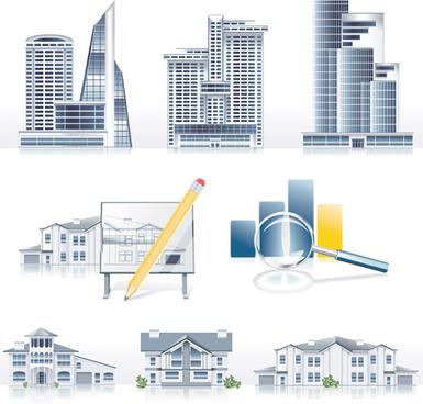 creative architecture design elements vector set