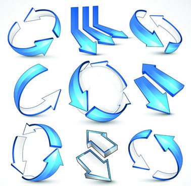 creative arrow logo design vector graphics