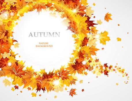 creative autumn leaves figures vector background