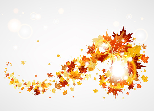 creative autumn leaves figures vector background