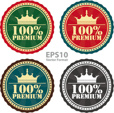 creative badges high quality vector