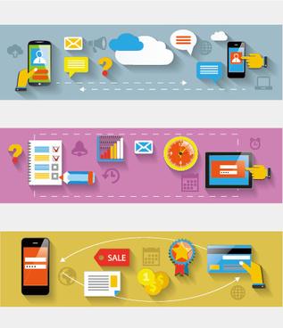 creative banners web design vector graphics