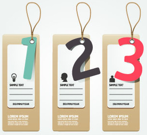 creative banners with numbers vector