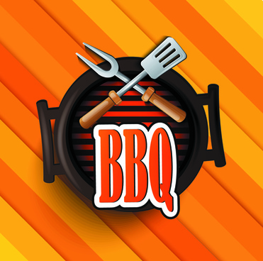 creative barbeque elements background