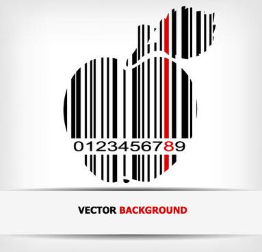 creative barcode background vector set