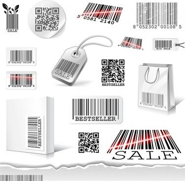 creative barcode vector