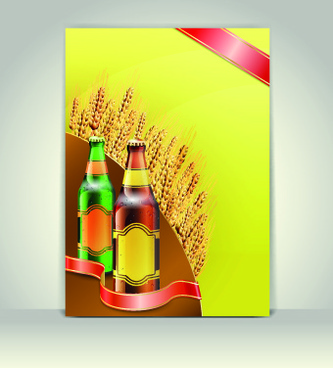 creative beer poster vector set