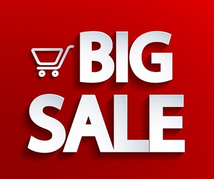 creative big sale design elements vector