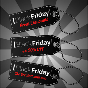 creative black friday tags vector