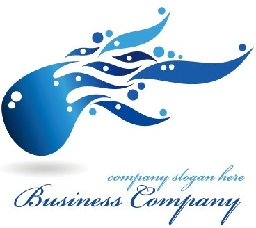 creative blue style business logos vector set