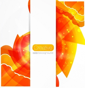 decorative background bright modern orange abstraction