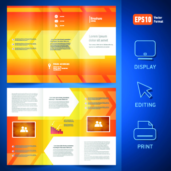 creative brochure and booklet tri fold design vector