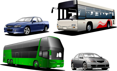 creative bus design vector