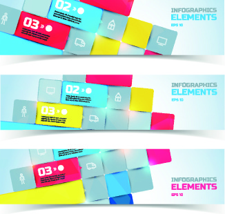 creative business banners elements vector