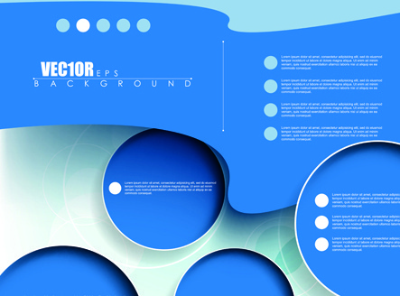 creative business brochure covers vector graphic
