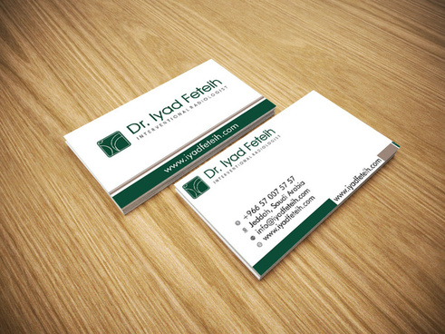 creative business card and mockup