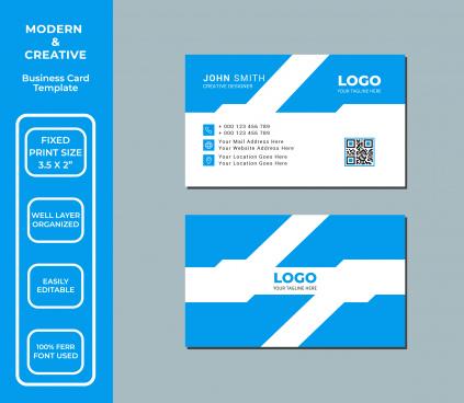 creative business card design template