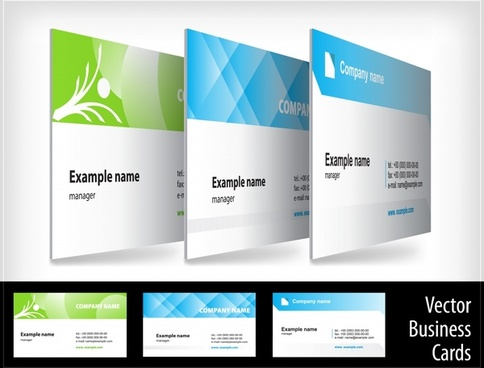 creative business card showing the effect of threedimensional vector