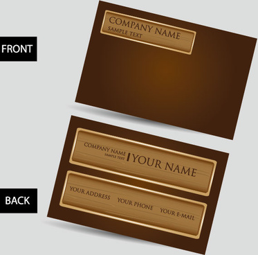 creative business cards design elements vector