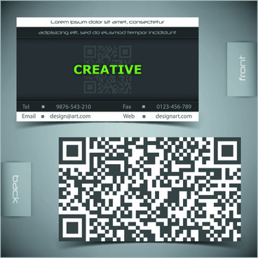 creative business cards vector background