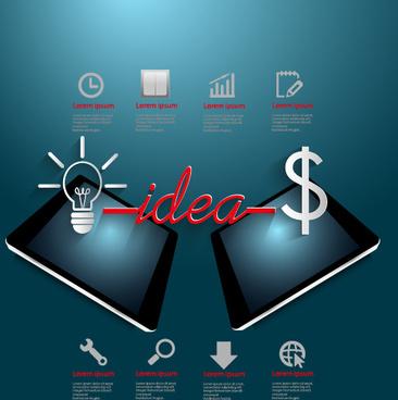 creative business idea template graphics vector
