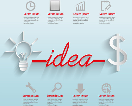 creative business idea template graphics vector