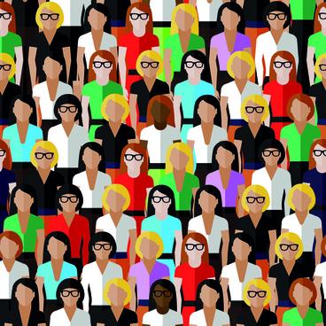 creative business people seamless pattern