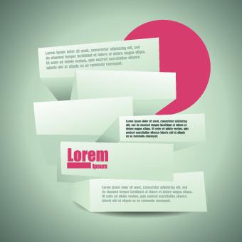 creative business template design vector
